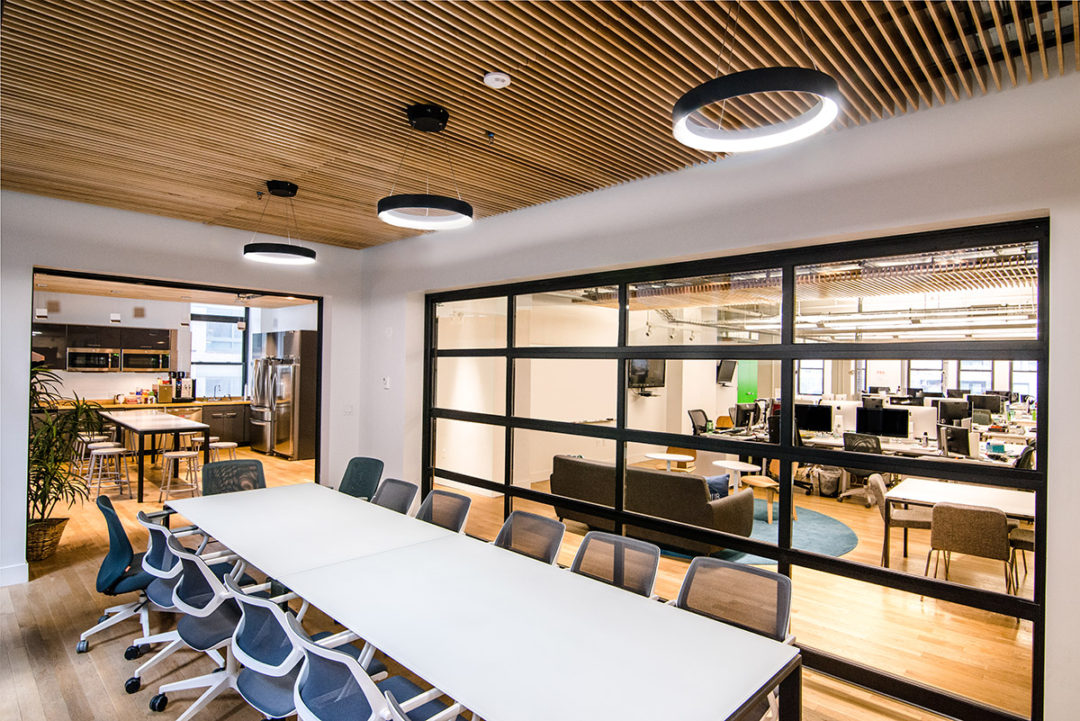 Blueberry Builders & Gust project. Learn about our completed office renovation projects across New York, perfected by our skilled commercial contractors.