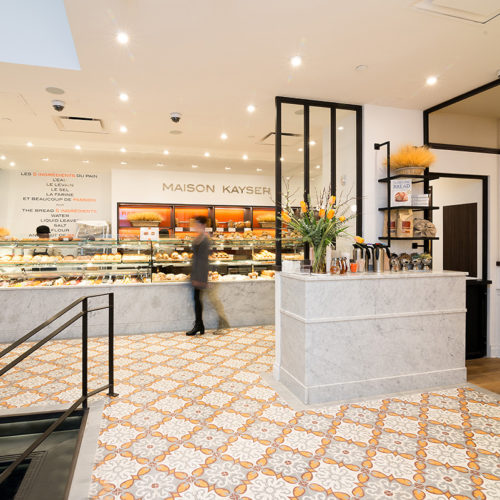 Blueberry Builders and Maison Kayser project. View our remodeling contractors' work in hospitality construction. At Blueberry, we bring passion and creativity to every project.