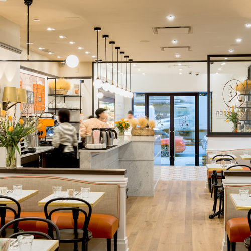 Blueberry Builders & Maison Kayser project. View our remodeling contractors' work in hospitality construction. At Blueberry, we bring passion and creativity to every project.
