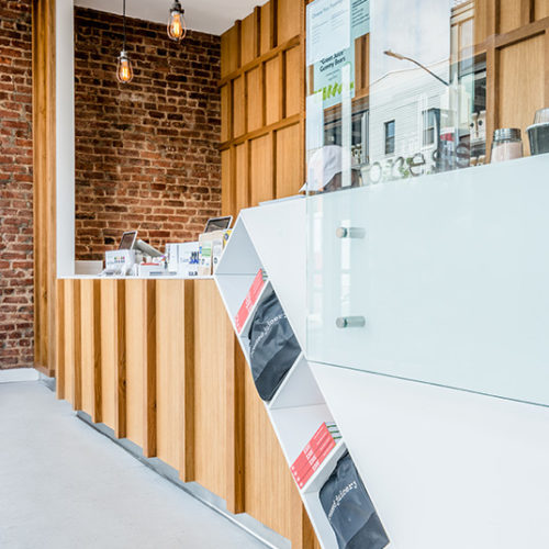 Blueberry Builders & Pressed Juicery Williamsburg project. View our remodeling contractors' work in hospitality construction. At Blueberry, we bring passion and creativity to every project.