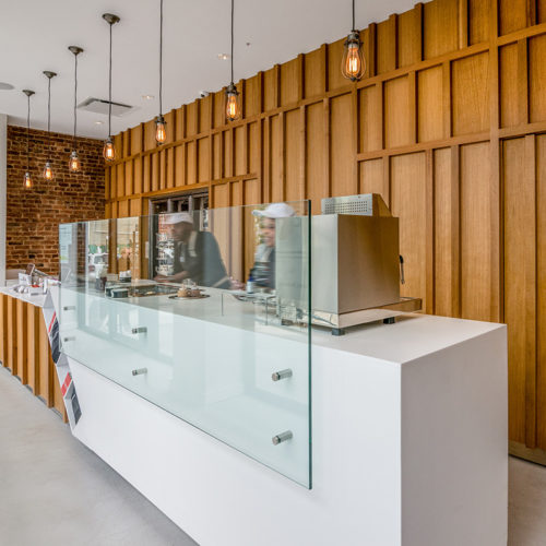 Blueberry Builders & Pressed Juice Williamsburg image. View our remodeling contractors' work in hospitality construction. At Blueberry, we bring passion and creativity to every project.