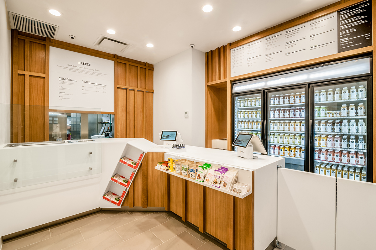 View our retail contruction for the refreshing and welcoming Pressed Juicery. At Blueberry, we believe in bringing creativity to every project.