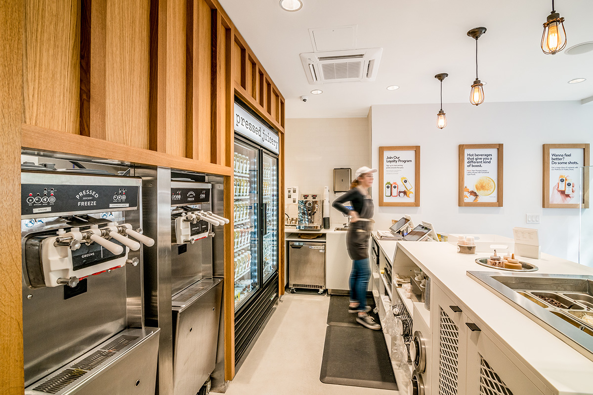 Blueberry Builders & Pressed Juicery Union Square project. View our remodeling contractors' work in hospitality construction. At Blueberry, we bring passion and creativity to every project.